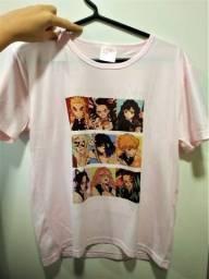 Camiseta Tamanho M Kimetsu No Yaiba E Sailor Moon