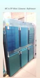 Mini Câmaras e geladeiras comerciais 4 e 6 portas inox - Refrimate, Klima e Gelopar