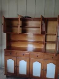 Conjunto cozinha de madeira cerejeira
