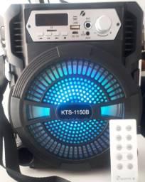 Caixa de som Portátil Bluetooth Alto Falante de 6.5<br><br>