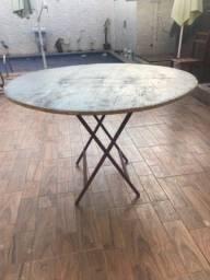 Título do anúncio: Vendo mesas redondas de 6 lugares