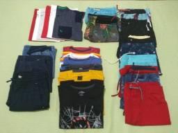 25 peças - lote de roupas infantil. 9-10 anos. Usadas