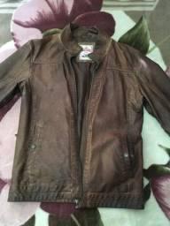 Título do anúncio: Jaqueta de couro original , Impecável .