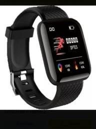 Smart watch d13 original com leitor de batimentos cardíacos e pressão arterial