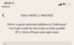 Clubhouse convites