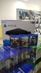 Título do anúncio: Playstation 4 + Garantia de 01 ano - aceitamos video games como parte do pagamento