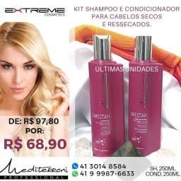 Shampoo e condicionador profissional para cabelos secos e ressecados Mediterrani
