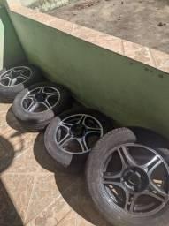 Jogo de Rodas 15 + pneus
