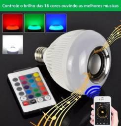 Lampada De Led Music Bluetooth Rgb 16 Cores Controle Remoto, MP3 Toca Música<br><br>