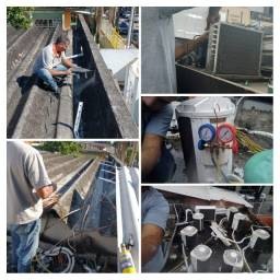 Manutenção e instalação de ar-condicionado.