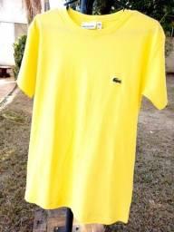 Camiseta básica lacoste amarela G