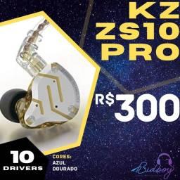 Título do anúncio: KZ ZS10 PRO - NOVO, LACRADO, PRONTA ENTREGA - Fones retorno in-ear