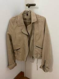 Título do anúncio: Jaqueta de camurça bege