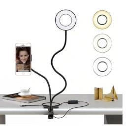 Ring Light Completo Suporte Celular Maguiagem Live Stream Youtuber