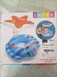 Boia inflável para piscina Baby Bote com cobertura