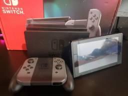 Título do anúncio: vendo nintendo switch cinza+3 jogos exclusivos nintendo