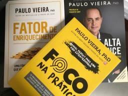 Kit Com 3 Livros Novos Coach Paulo Vieira