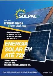 Energia Solar (7 meses de carência, excelentes brindes, menores taxas)