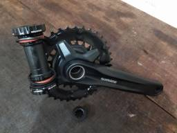 Pedivela integrado duplo Shimano 22/36