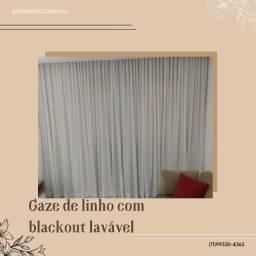 Título do anúncio: Gaze de linho com blackout lavável 07