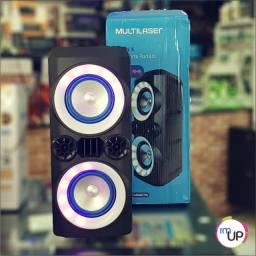 Caixa de Som bluetooth Multilaser  300W - 1 Ano de Garantia