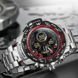 23511de227226 Mizums Relógio masculino relógio de quartzo digital para homem original