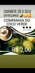 Vendo coco verde, 2,00 a unid