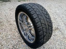 Rodas 20 com pneus 305/45 geolandar yokohama 5 furos multifuro