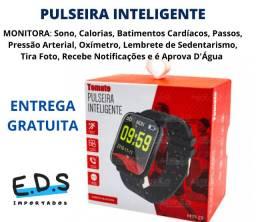 Relógio Inteligente com Múltiplas Funções de Monitoramento Bluetooth
