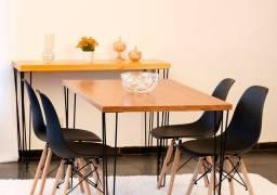Conjunto de mesa 130x77 + 4 cadeiras!!