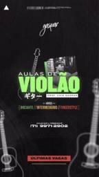 Título do anúncio: Aulas de violão presencial e EAD