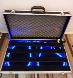 Case 70x40x10cm + Pedalboard + LED