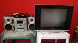 Tv tubo e som