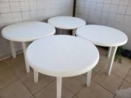 Vendo 4 Mesas Miami 98cm Grosfillex com 10 cadeiras Goyana.