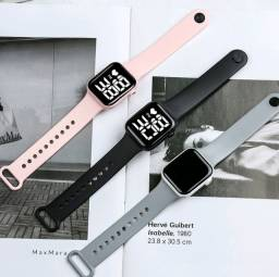 Título do anúncio: Relógio digital unissex LED à prova d'águ