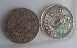 2 moedas de 200 réis 1868