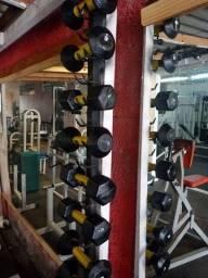 110 kg de Halteres e 120 kg de Dumbells