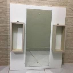 Espelho c/ 2 ninchos para banheiro