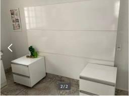 Painel de cama solteiro com 2 cômodas