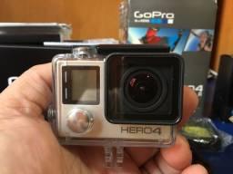 Título do anúncio: Go Pro Hero 4 Silver + Muitos Acessórios + veja nas fotos