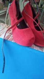 Sapato patricinha vermelho