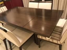 Mesa 6 lugares madeira maciça