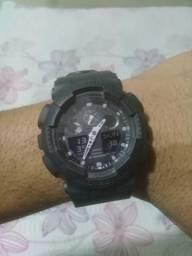 17342527b46 Relógio Casio G-shock Ga100bbn Pulseira Lona - Original
