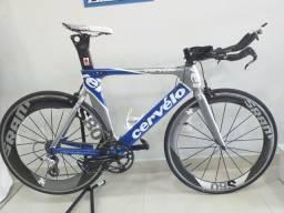 Bicileta TT Cervello P2 Carbono Rodas Sram Carbono