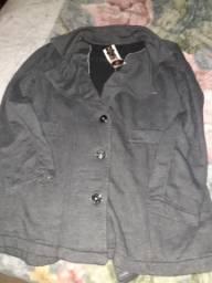 Casaco de moleton tamanho G, cor cinza apeluciado por dentro! Novo com etiqueta!!!!