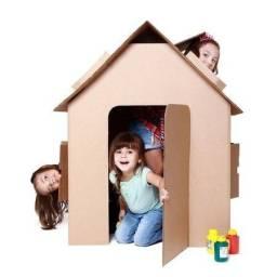Casa de Papelão para Crianças
