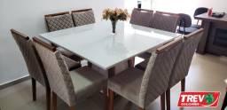 Mesa com 8 cadeiras 135x135 Promoção