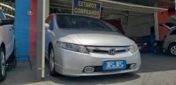 New Civic LXS - 2008 - Top + Bancos em Couro e Kit Multimídia! - 2008