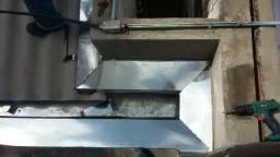Reparo de tetos e fabricação de calhas