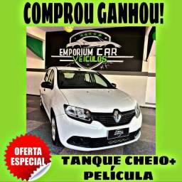 TANQUE CHEIO SO NA EMPORIUM CAR!!! RENAULT SANDERO 1.0 ANO 2017 COM 1 MIL DE ENTRADA